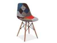 """""""DSW"""" stoel met patchwork"""